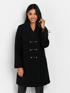 wallis-satin-piped-revere-double-breasted-crepe-coat-black