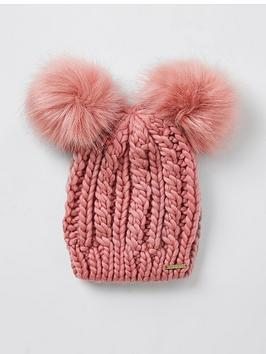 river-island-pink-double-pom-hat-pink
