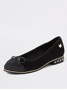 river-island-wide-fit-toe-cap-detail-ballerina-shoe-black