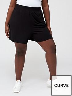 v-by-very-curve-jersey-short-blacknbsp