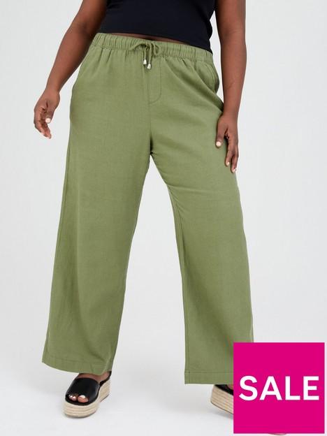 v-by-very-curve-wide-leg-linen-trouser-khakinbsp