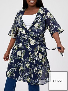v-by-very-curve-printed-longline-blouse-floral-print