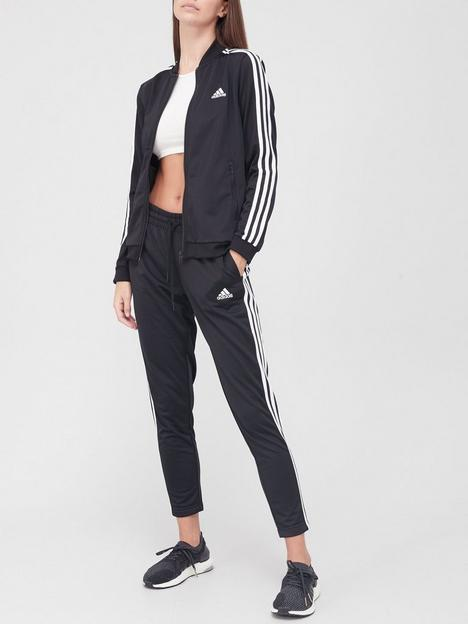 adidas-3-stripe-tracksuit-black