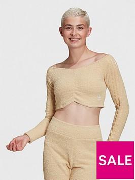 adidas-originals-relaxed-risque-off-shoulder-crop-top-beige