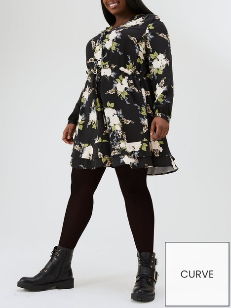 v-by-very-curve-printed-tea-dress-floral-print
