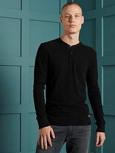 superdry-micro-texture-henley-top-black