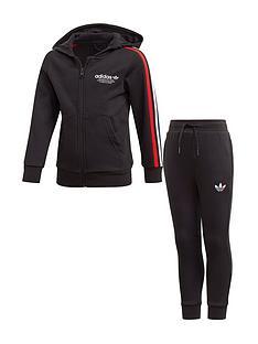 adidas-originals-childrens-adicolor-full-zipnbsphoodie-set-black
