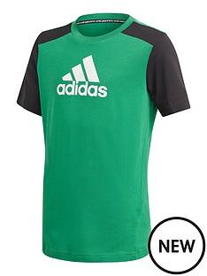 adidas-boys-badge-of-sport-t-shirt-greenblack