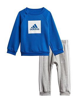 adidas-infant-3-stripe-logo-jogger-set-blue