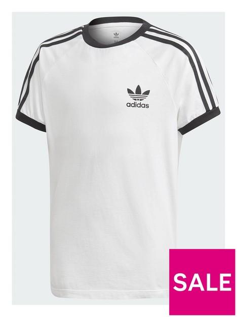 adidas-originals-childrens-3-stripes-tee-white-black