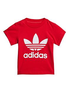 adidas-originals-originals-childrens-trefoilnbsptee-red-white