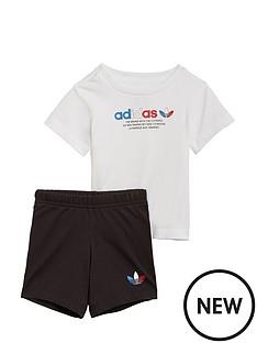adidas-originals-childrens-short-andnbsptee-set-white-black