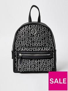 river-island-girls-river-island-diamante-backpack-black