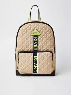 river-island-girls-quilted-backpack-beige