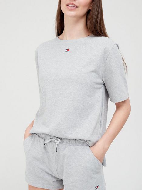 tommy-hilfiger-half-sleeve-lounge-t-shirt-grey