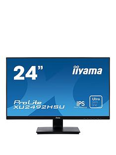 iiyama-prolite-xu2492hsu-b1-24-ips-full-hd-black-ultra-slim-bezel-hdmi-display-port-usb-hub