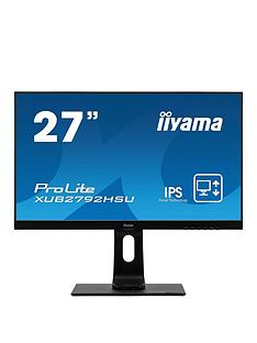 iiyama-prolite-xub2792hsu-b1-27-ips-hd-ultra-slim-bezel-black-hdmi-display-port-usb-hub-height-adjustable
