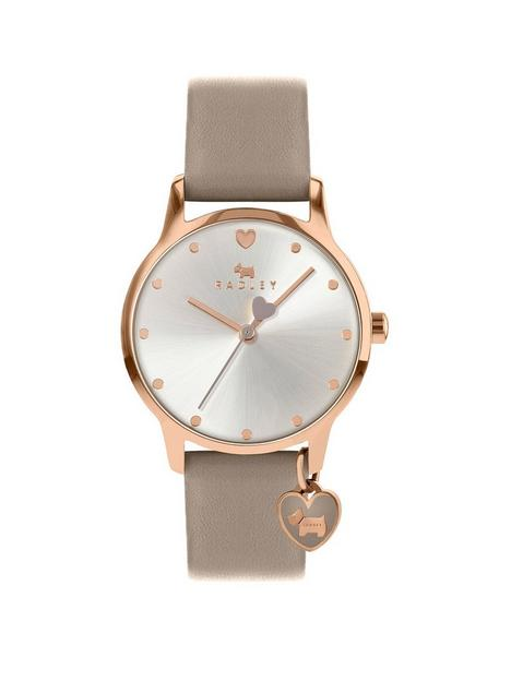 radley-silver-sunray-and-gold-detail-charm-dial-grey-leather-strap-ladies-watch