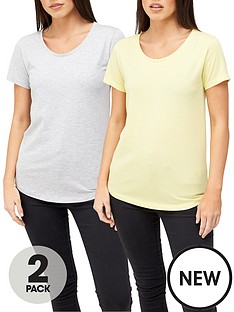 v-by-very-2-pack-scoop-neck-t-shirt-yellowgrey