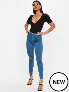 missguided-missguided-vice-highwaisted-slash-knee-skinny-jean-blue
