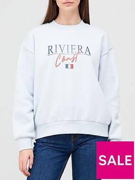 v-by-very-front-print-riviera-coast-crew-neck-sweat-blue-marlnbsp