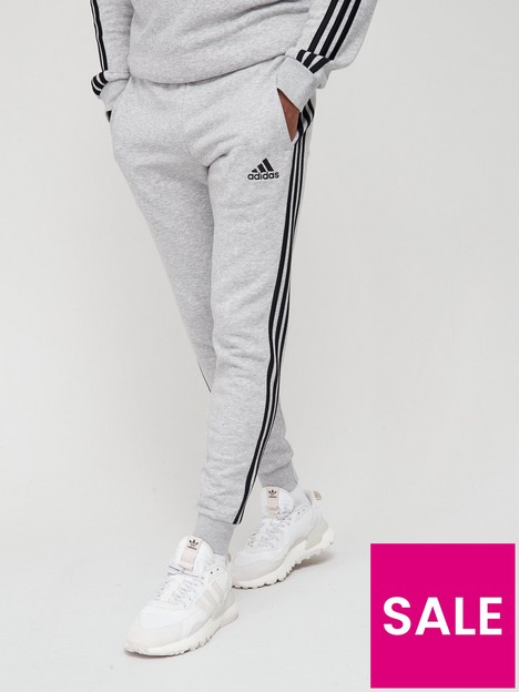 adidas-3-stripe-fleece-sweatnbsppants-medium-grey-heather