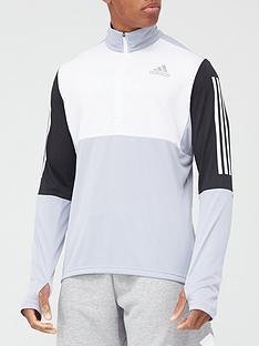 adidas-own-the-run-half-zip-top-silver