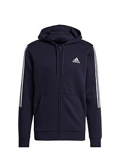 adidas-3-stripe-full-zip-hoody-navywhite