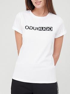 hugo-slim-logo-t-shirt-whitenbsp
