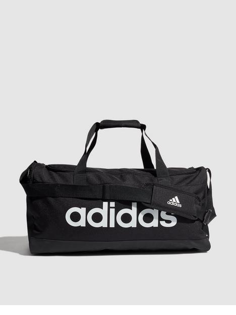 adidas-linear-logo-duffle-bag-blackwhite