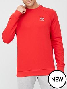 adidas-originals-essentials-crew-neck-sweat-top-red