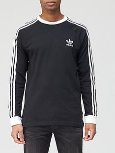 adidas-originals-3-stripe-long-sleeve-t-shirt-black