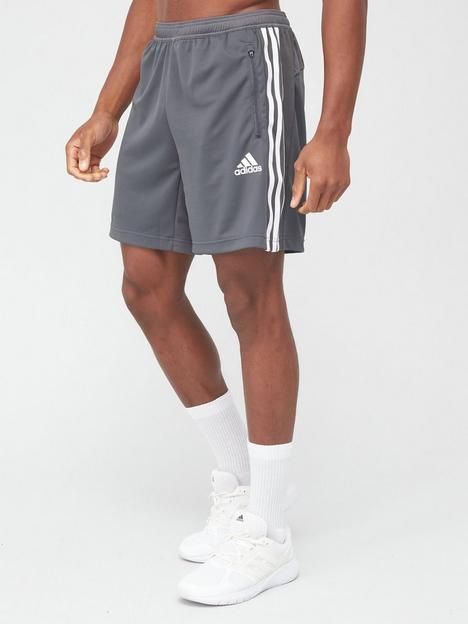 adidas-3-stripe-shorts-grey