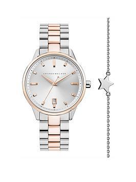 amanda-walker-amanda-walker-amelia-silver-and-rose-gold-date-dial-two-tone-stainless-steel-bracelet-ladies-watch-and-star-bracelet-gift-set