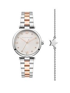 amanda-walker-amanda-walker-eva-silver-and-rose-gold-crystal-set-dial-two-tone-stainless-steel-bracelet-ladies-watch-and-star-bracelet-gift-set