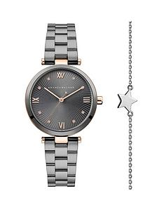 amanda-walker-amanda-walker-grey-and-rose-gold-crystal-set-dial-gunmetal-grey-stainless-steel-bracelet-ladies-watch-and-star-bracelet-gift-set