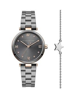 amanda-walker-amanda-walker-grey-and-rose-gold-crystal-set-dial-gunmetal-grey-stainless-steel-bracelet-ladies-watch-and-star-bracelet-gift-set