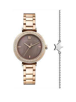 amanda-walker-amanda-walker-grace-bronze-mother-of-pearl-and-crystal-set-dial-rose-gold-stainless-steel-bracelet-ladies-watch-and-star-bracelet-gift-set