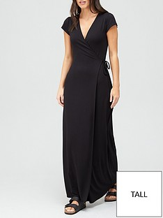 v-by-very-tall-short-sleeve-wrap-jersey-maxi-dress