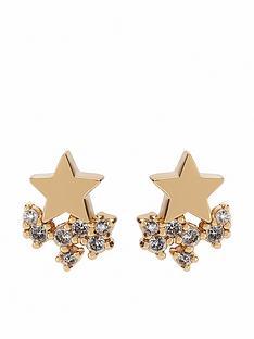 mint-velvet-star-cluster-earrings-gold
