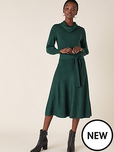 monsoon-cowl-neck-belted-dress-teal
