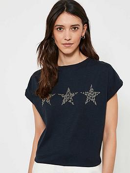 mint-velvet-studded-star-trio-t-shirt-navynbsp