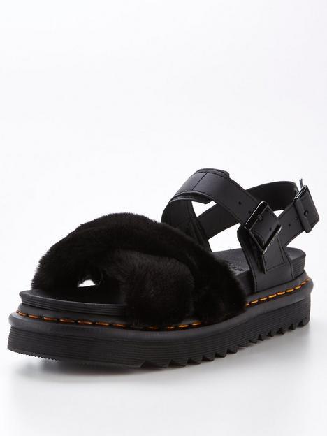 dr-martens-voss-iinbspfluffy-flat-sandal-black-black