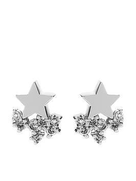 mint-velvet-star-cluster-earrings-silver