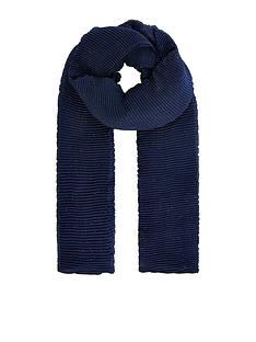 monsoon-lurex-pleated-occasion-scarf-navy