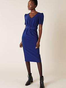 monsoon-stephanie-sustainable-belted-shift-dress-cobalt