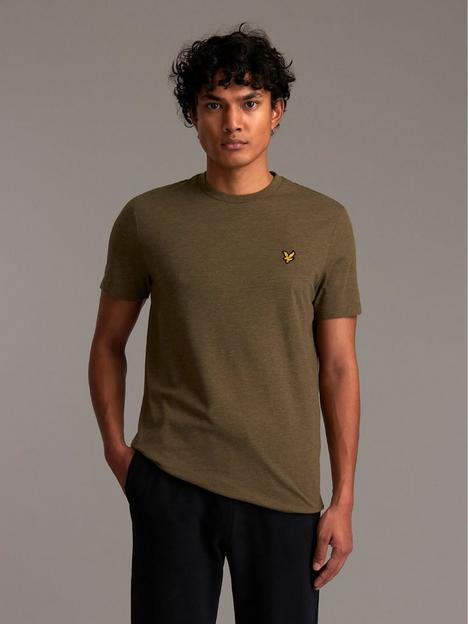 lyle-scott-marled-t-shirt-green