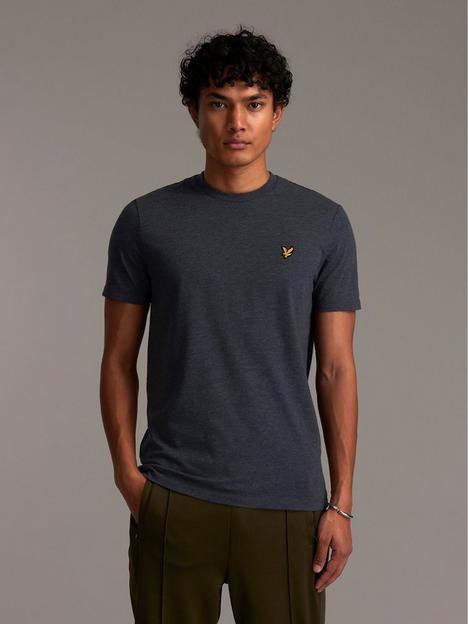 lyle-scott-marled-t-shirt-dark-navy