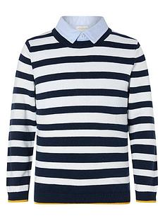 monsoon-boys-stripe-jumper-with-collar-navy