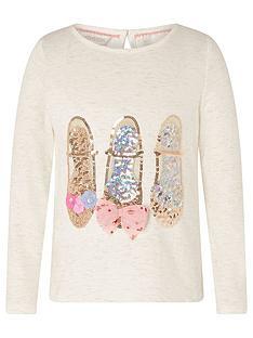 monsoon-girls-sparkle-shoe-long-sleeve-top-ivory